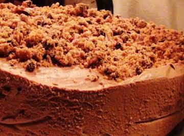 Decadent Trio Chocolate Hazelnut Cheesecake