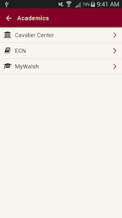 Walsh University App - náhled
