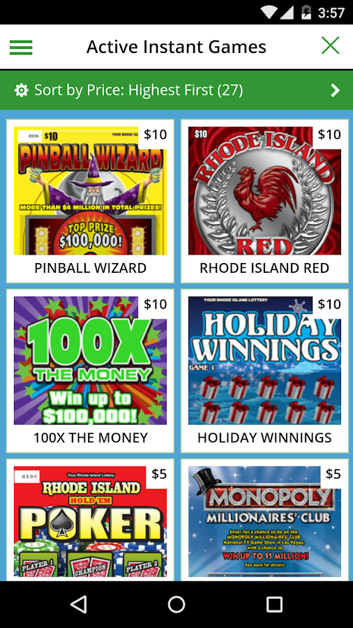 Rhode Island Lottery Numbers Game