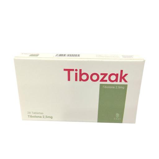 Tibolona Tibozak 2,5mg 28Tabletas