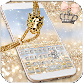 Silver Gold Keyboard theme