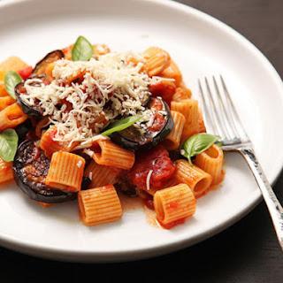 Sicilian-Style Pasta with Eggplant, Tomatoes, and Ricotta Salata (Pasta Alla Norma).