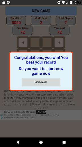 Game 2048 King screenshots 8