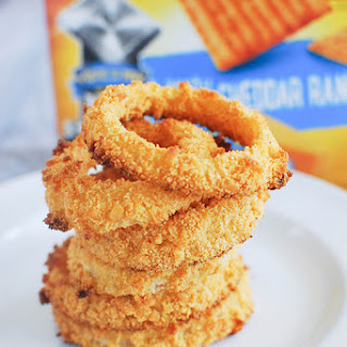 Baked Cheddar Ranch Onion Rings.