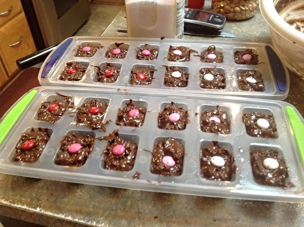 Cover with saran wrap and refrigerate until candy hardens at least and hour or...