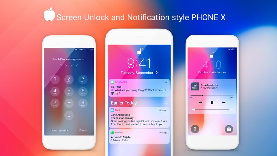 iLauncher OS 11 -  Phone X: captura de tela