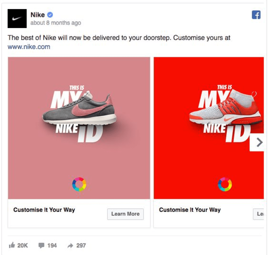 Best Facebook Ad Examples - Nike