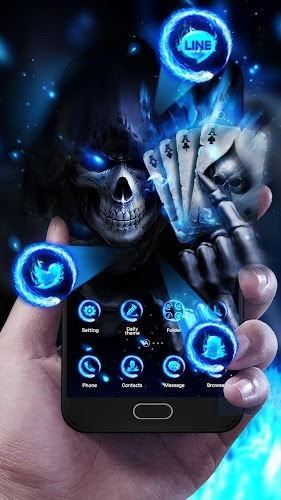 Download 3D Poker Skull Theme Launcher APK latest version app by 3D