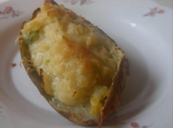 Leek And Parmesan Twice Baked Potatoes Recipe