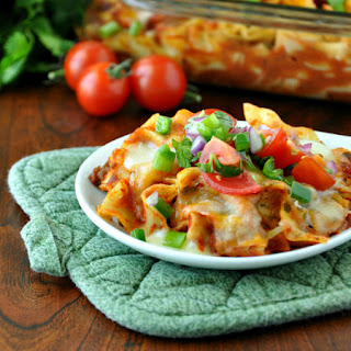 Fiesta Enchilada Pasta Casserole and Healthy Homemade Enchilada Sauce