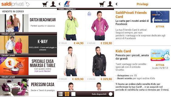 SaldiPrivati: l'app per trovare sconti e prezzi da outlet