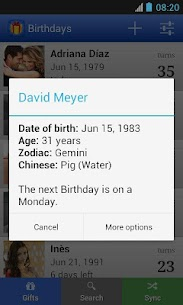 Birthdays for Android 2
