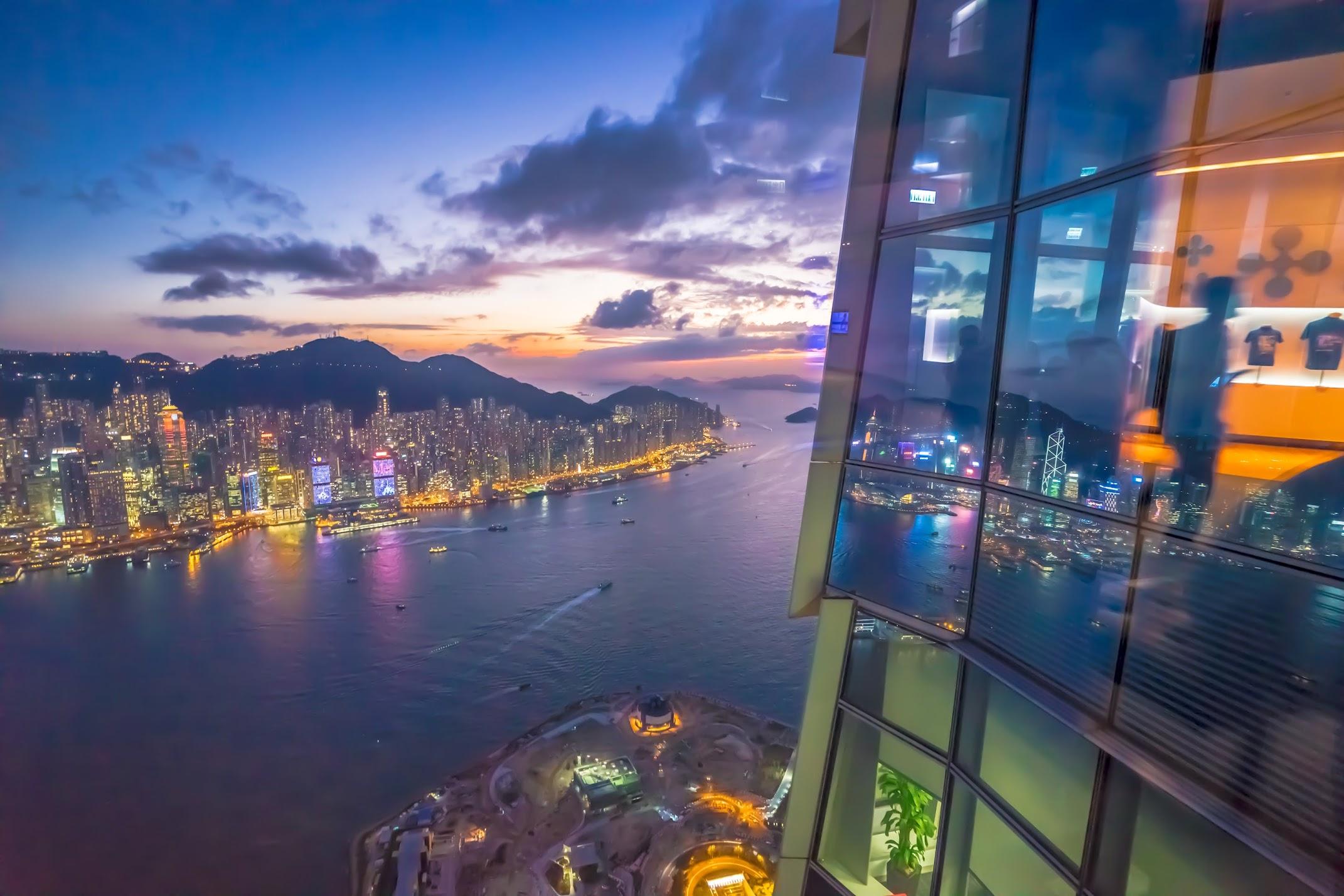 香港 スカイ100(sky100) 夜景2