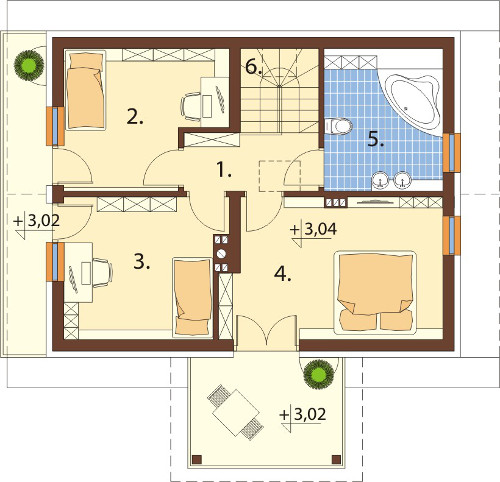 Akacjowo - Rzut piętra