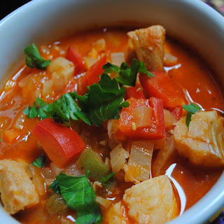 Slow Cooker Fish Soup with Vegetables