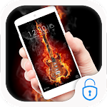Fire guitar lock theme icon