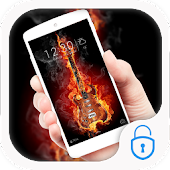 Fire guitar lock theme