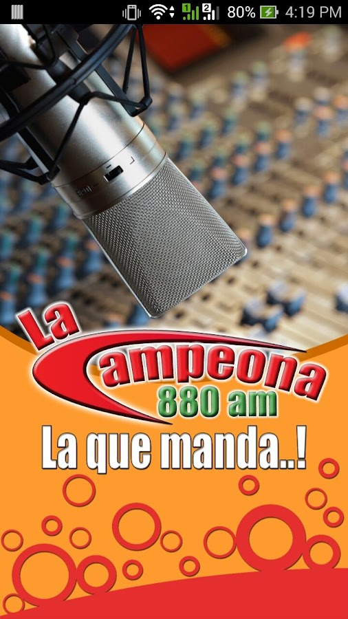 La Campeona 880 AM: captura de pantalla