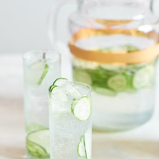 Cucumber Gin & Tonic Pitcher Cocktail.