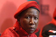 MARCH 8, 2018.Julius Malema is seen at EFF headquarters in Braamfontein, Johannesburg, addressing media.
