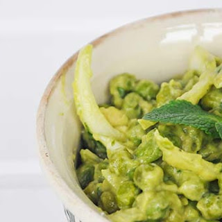 Warm Green Pea Salad with Avocado Mayo and Mint Recipe