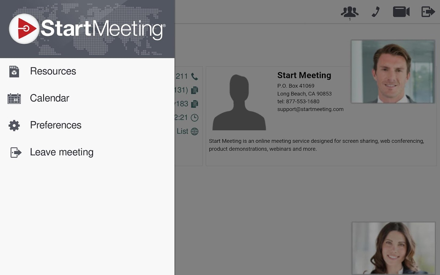 Start Meeting- screenshot