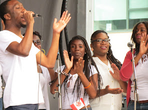 Photo: Gospel group kicking off Canada Day at Ontario Place