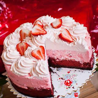 Strawberry Red Velvet Cheesecake.