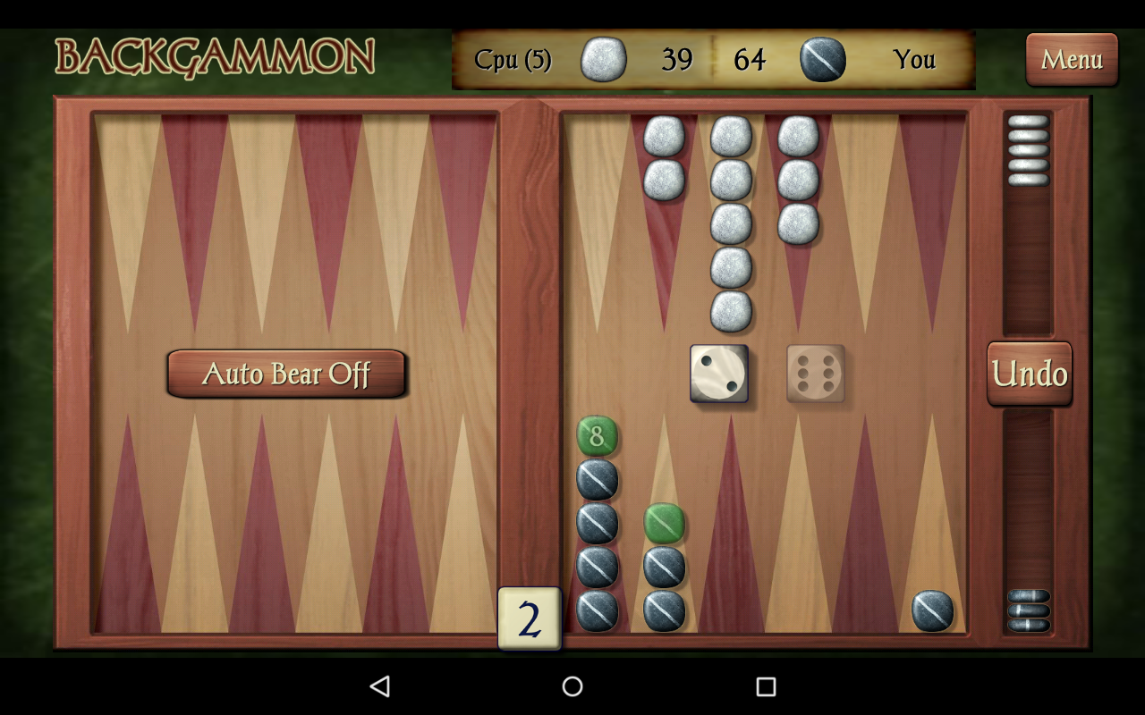 Backgammon Game Play