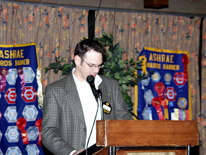 Photo: Past President Robert Lefebvre spoke about Research Promotion