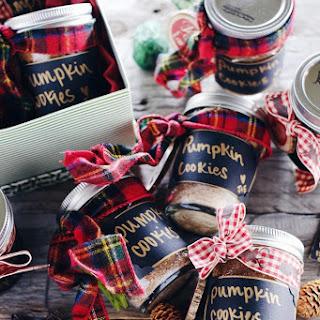 DIY Pumpkin Cookies In A Jar (Paleo, GF, Egg-Free, Dairy-Free + Refined Sugar-Free).