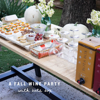 A Fall Wine Party + Pumpkin Hummus