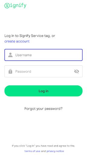 Signify Service Tag screenshot 1