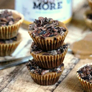 """Chocolate Almond Butter Cups with """"Naturally More"""" Probiotic Almond Butter (""""Almost Raw"""", Vegan, Gluten-Free, Dairy-Free, No-Bake, Paleo-Friendly, No Refined Sugar)."""