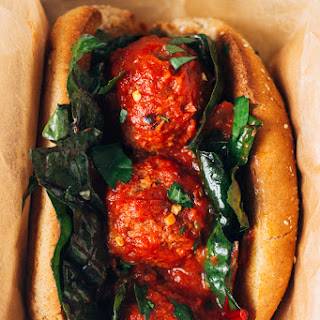 White Bean + Mushroom 'meatball' Subs (vegan)