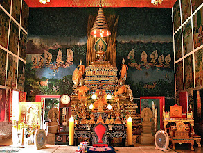 Photo: inside the chapel of Wat Si Thep, Nakhon Phanom