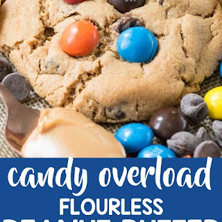 Candy Overload Flourless Peanut Butter Cookies.