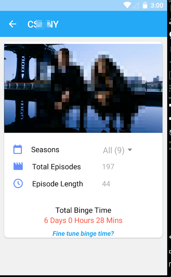 Television Binge Calculator- screenshot