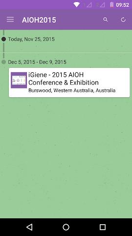 android AIOH2015 Screenshot 1