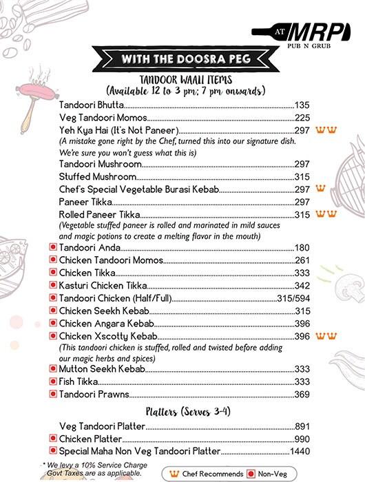 AT MRP menu 3