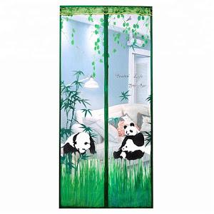 Perdea antiinsecte 90 x 210 cm, model Panda Bear Verde