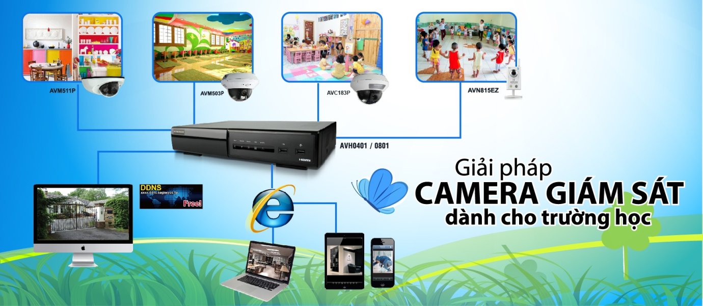 Lắp đặt camera giám sát giúp nhà trường bảo vệ tài sản có giá trị hiệu quả