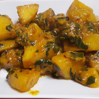 Aloo Methi Recipe | Spiced Potatoes & Fenugreek.