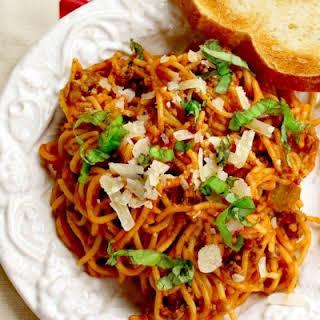 Easy Crock Pot Spaghetti.