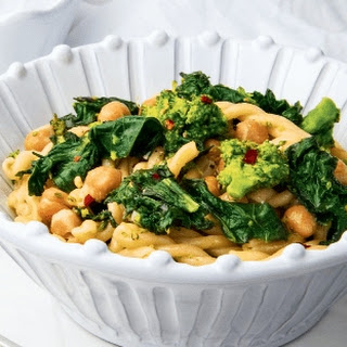 Spicy Broccoli Rabe And Gemelli Pasta.