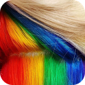Trends in hair color icon