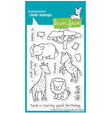 Lawn Fawn Clear Stamps 4X6 - Critters On The Savanna
