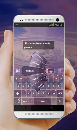 パープル砂漠スカイ GO Keyboard