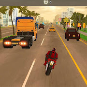 3D Hero Super hero Rider - Moto Traffic Shooter