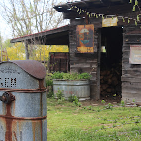 Waterpump by Karen Harris - Artistic Objects Antiques ( old, pump, rusty, rustic, rabbit hash, antique, water pump )